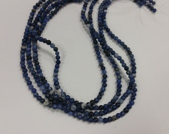 4mm Round Sodalite bead strand