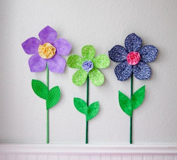 3d Wall Decor Flower Garden : Flower wall decal girls room nursery decor flowers d