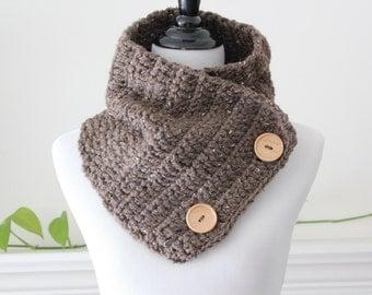 Crochet Barley Color Cowl Neckwarmer