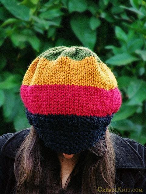 Knitting Pattern Adult Rasta Hat pattern by CreatiKnit on Etsy