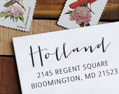 Custom Address Stamp, Return Address Stamp, Wedding address stamp, Calligraphy Address Stamp, Self inking or Eco Mount stamp - Holland