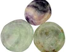 Fluorite Worry Stone, Reiki Charka Healing, Jewelry Making, New Age, Metaphysical