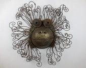 Funky Rusty Monkey Head Sculpture Re purposed Art Orangutan