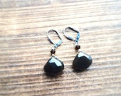 Smoky Quartz Gemstone Drop Earrings Bridesmaid Gift Smokey Gemstone Jewelry Wire Wrapped Hollywood Style One of A Kind Handmade in Indiana