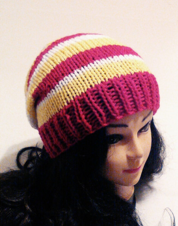 womens knitted hat s slouchy beanie s by