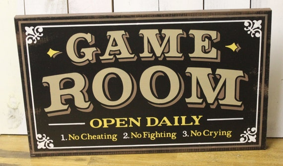 Man Cave Signs Walmart Canada : Game room sign man cave christmas gift you choose colors