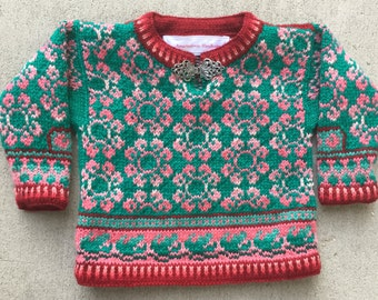 Knitting Pattern: One Year Round Flowers Sweater