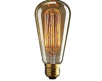 Antique Bulbs Many Styles! Vintage Industrial Tungsten Filament Edison Globe, Radio, Squirrel Cage
