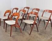 Set of 8 Scandinavian Teak Dining Chairs