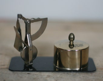 vintage mail scale and stamp holder desk accessory