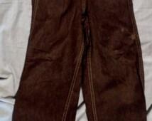 Cool Vintage Womens Teen Kids Maroon Side Snap Button Zipper 23 X 22 Denim Straight Leg Jean (20 % DISCOUNT APPLIED)