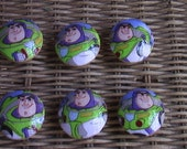 Disney Toy Story Buzz Lightyear Handmade Knobs Drawer Pull Setof 6 Dresser Knob Pulls Switch Plate Covers to Match in Shop