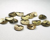 10mm Wavy Disk Beads Antiqued Pewter, Brass Oxide or Copper Finish 20 pcs. TierraCast 93.0448