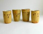 Set of 4 Pod Tumblers - harvest gold - 6 oz