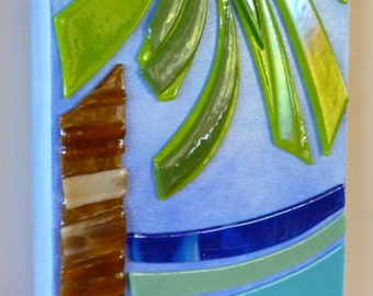 Calm Palm Glass Art by Shelly Batha Big Island Hawaii