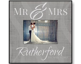 "Personalized Wedding Picture Frame for 5""x7"" Photo Frame Overall Size 12""x12"""