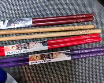 Colored Drumsticks Personalized Engraved Custom  Gift