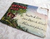 1936 Watkins Glen New York Vintage Souvenir Accordion Linen Finish Souvenir Photo Booklet