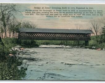 Covered Bridge Jones Crossing New Hampshire postcard