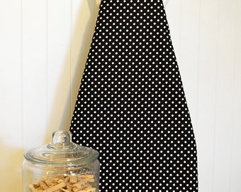 New!  Ironing Board Cover - Michael Miller Dumb Dot  Black/White