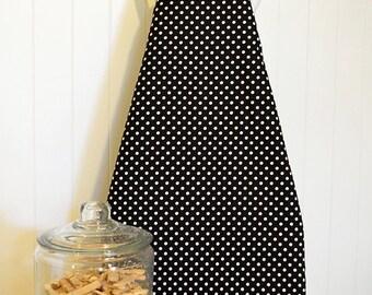 New!  Ironing Board Cover - Michael Miller Dumb Dot  Black/White