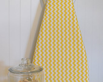 Designer Ironing Board Cover - Riley Blake Small Chevron Yellow