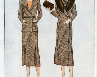 1930 Art Deco Ladies Designer  Autumns Tweeds and Brown Fashion Ad , Artist Illustration, Color Print, Fashion Advertising, Print Ad,
