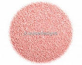 Carnation  Pink Nonpareils  Edible Sprinkles Cakepops Cupcake CandyConfetti Decorations 2oz.