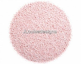 Blush Pink Nonpareils  Edible Sprinkles Cakepops Cupcake CandyConfetti Decorations 2oz.