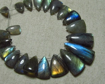 AAA - High Quality - LABRADORITE - Smooth Polished Fancy Shape Briolettes Full Flashy Multy Strong Fire Huge size 6x11 - 10x22.5 mm - 21 pcs