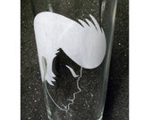 FREE SHIPPING Space Dandy etched beer glass pint tumbler