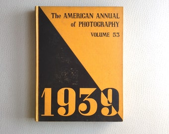 American Annual of Photography Hard Bound Issues - set of 6 - 1939 to 1948 - Vintage Photo History Reference Collection - 1930s 1940s