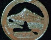 Kayak Hand Cut  Coin Jewelry