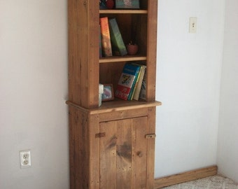 Reclaimed wood - Country Cabinet with Hutch [TC75H]
