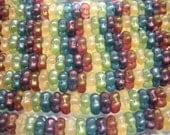 40 3x7mm Matte Rainbow Luster Flower Spacer Czech Glass Beads