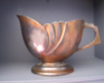 Copper Creamer Made in Japan Design reg.No.54662