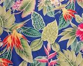 Hawaiian print in cotton  (yardage available)