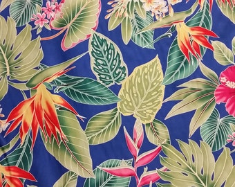 Cotton Hawaiian Print  (Yardage Available)