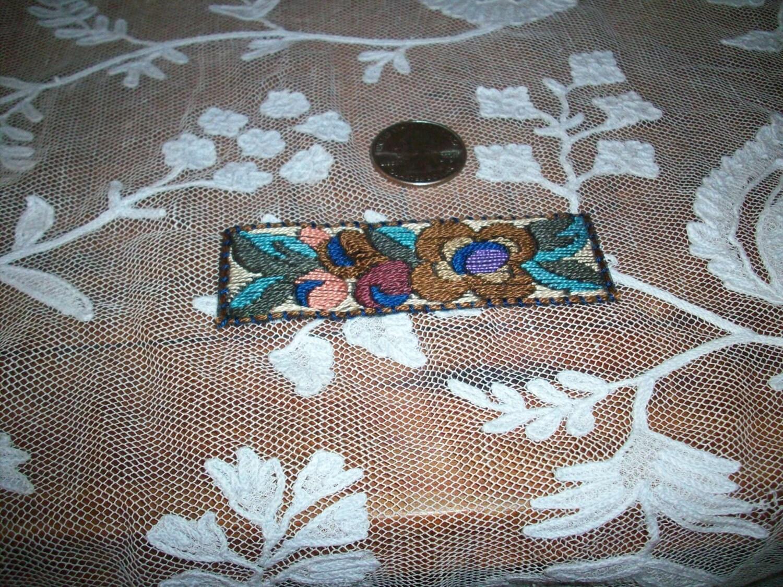 1 art deco period hand loom applique. Black Bedroom Furniture Sets. Home Design Ideas