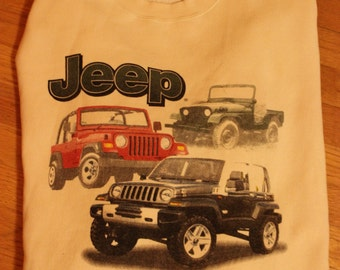 Vintage Jeep Wrangler Sweatshirt XL An American Icon