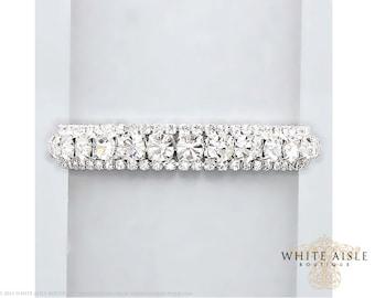 Rhinestone Bracelet, Vintage Inspired Bridal Bracelet, Evening, Statement Bracelet, Bridesmaids Jewelry, Formal