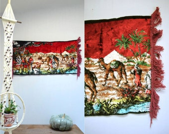 African Tapestry  //  Velvet Wall Hanging  //  ARABIAN NIGHTS