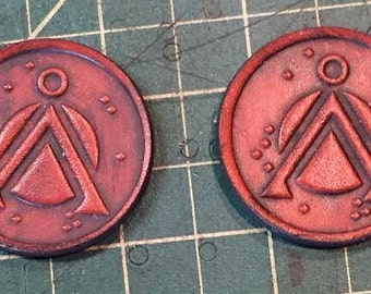 Stargate Leather Embossed pin
