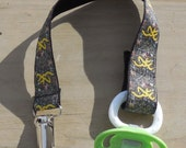 Pacifier Holder, Yellow Browning Camouflage Ribbon Pacifier Holder or Clip, Camouflage Pacifier Holder, Binky Clip, Browning Toy Clip