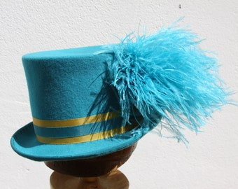 Top Hat Luxe Millinery Women Turquoise English Millinery Menswear