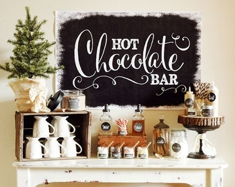 Chalkboard Hot Chocolate Bar - FULL Collection