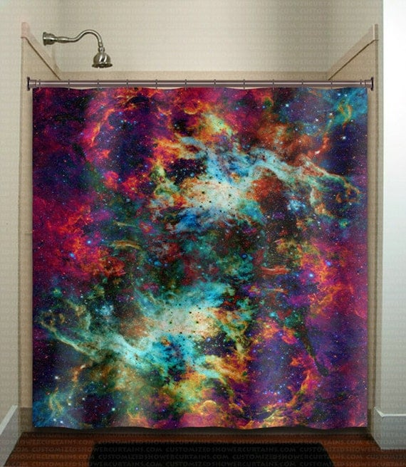 Nebula Cosmos Outer Space Rainbow Galaxy Shower Curtain