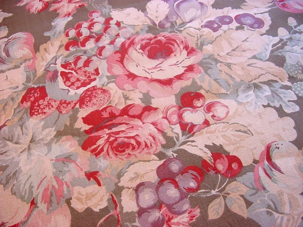 Laura Ashley Decorator Fabric English Country Print Gorgeous