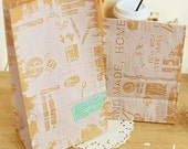 30 Vintage Kraft Paper Bags - S size (4.7 x 8.7in)