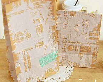 30 Vintage Kraft Paper Bags - S size (4.7 x 8.7in)